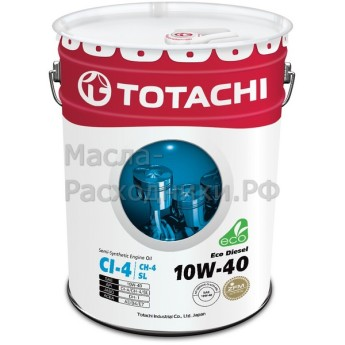 Масло моторное TOTACHI Diesel Eco Semi-Synthetic CI-4/CH-4/SL 10W-40 (20л) 4562374690547