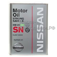 Масло моторное KLAN7-00204 Nissan Strong Save X 0W-20 ECO SN (4л)