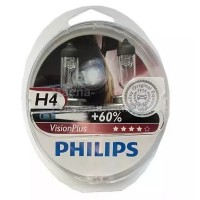 Автолампы 12342VP Philips H4 VISIONPLUS +60% 12V-60/55W (комплект 2 шт)