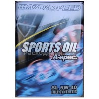 Масло моторное Mazda SPEED SPORTS OIL A-spec 5W-40 (4л) / K004W0021