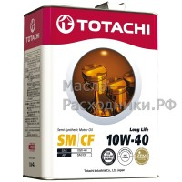 Масло моторное TOTACHI Gasoline Long Life Semi-Synthetic SM/CF 10W-40 (4л) 4562374690431