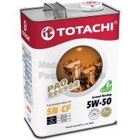Масло моторное TOTACHI Gasoline Grand Racing Fully Synthetic SN 5W-50 (4л) 4562374690707