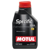 Масло моторное Motul Specific 229.51 (MB) 5W-30 (5л)