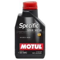 Масло моторное Motul Specific 505.01/502.00 (VW) 5W-40 (1л) 101573