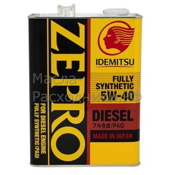 Масло моторное IDEMITSU Zepro Diesel Fully Synthetic CF 5W-40 (4л) 2863004