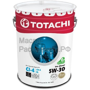 Масло моторное TOTACHI Diesel Eco Semi-Synthetic CI-4/CH-4/SL 5W-30 (20л) 4562374690493