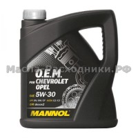 Масло моторное MANNOL O.E.M. for CHEVROLET OPEL 5W-30 (4л)