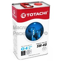 Масло моторное TOTACHI NIRO HD Synthetic CI-4,CH-4/SL 5W-40 (4л) 4589904525360