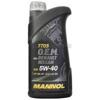 Масло моторное MANNOL O.E.M. for RENAULT NISSAN 5W-40 (1л) 1088