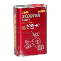 Масло моторное MANNOL 7809 Scooter 4-Takt 10W-40 (1л) 6009